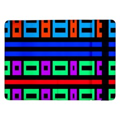 Rectangles And Stripes samsung Galaxy Tab Pro 12 2  Flip Case by LalyLauraFLM