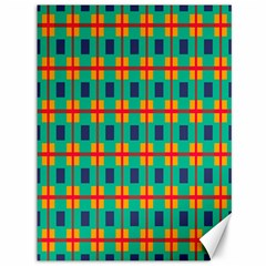 Squares In Retro Colors Pattern 			canvas 36  X 48  by LalyLauraFLM