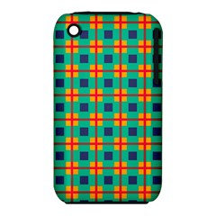 Squares in retro colors pattern Apple iPhone 3G/3GS Hardshell Case (PC+Silicone) by LalyLauraFLM