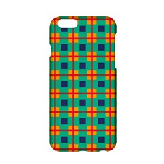 Squares In Retro Colors Pattern 			apple Iphone 6/6s Hardshell Case by LalyLauraFLM