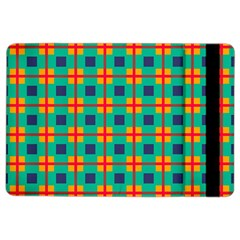 Squares In Retro Colors Pattern 			apple Ipad Air 2 Flip Case by LalyLauraFLM