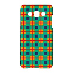 Squares In Retro Colors Pattern 			samsung Galaxy A5 Hardshell Case by LalyLauraFLM