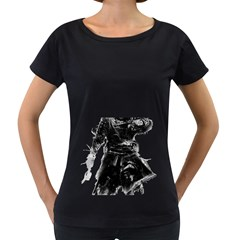 Assassins Creed Black Flag Tshirt Women s Loose Fit T Shirt (black) by iankingart