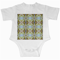 Beautiful White Yellow Rose Pattern Infant Creepers by Costasonlineshop