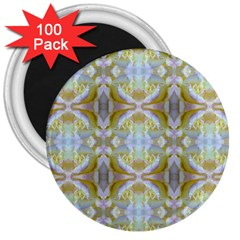 Beautiful White Yellow Rose Pattern 3  Magnets (100 Pack) by Costasonlineshop