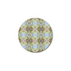 Beautiful White Yellow Rose Pattern Golf Ball Marker by Costasonlineshop