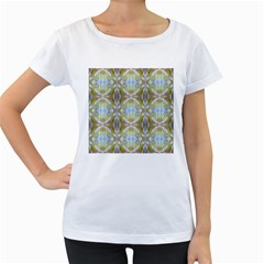 Beautiful White Yellow Rose Pattern Women s Loose Fit T Shirt (white) by Costasonlineshop