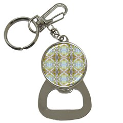 Beautiful White Yellow Rose Pattern Bottle Opener Key Chains