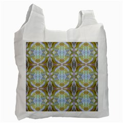 Beautiful White Yellow Rose Pattern Recycle Bag (One Side) by Costasonlineshop