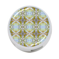 Beautiful White Yellow Rose Pattern 4 Port Usb Hub (one Side)