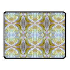 Beautiful White Yellow Rose Pattern Fleece Blanket (small)