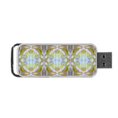 Beautiful White Yellow Rose Pattern Portable USB Flash (Two Sides) by Costasonlineshop
