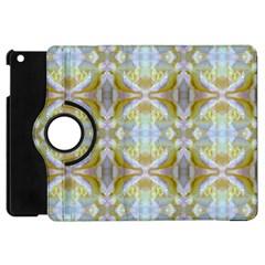 Beautiful White Yellow Rose Pattern Apple Ipad Mini Flip 360 Case by Costasonlineshop