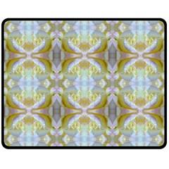 Beautiful White Yellow Rose Pattern Double Sided Fleece Blanket (medium)  by Costasonlineshop