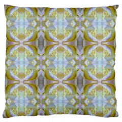 Beautiful White Yellow Rose Pattern Large Flano Cushion Cases (two Sides)  by Costasonlineshop
