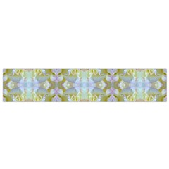 Beautiful White Yellow Rose Pattern Flano Scarf (small) by Costasonlineshop