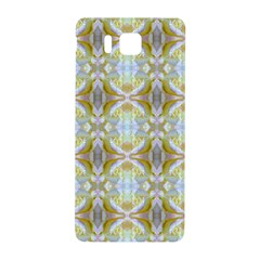 Beautiful White Yellow Rose Pattern Samsung Galaxy Alpha Hardshell Back Case by Costasonlineshop