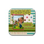 kids - Rubber Square Coaster (4 pack)