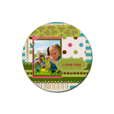 Kids By Kids   Rubber Coaster (round)   Ab6l0451vabm   Www Artscow Com Front