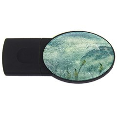 Nature Photo Collage Usb Flash Drive Oval (2 Gb)  by dflcprints