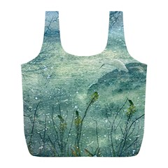 Nature Photo Collage Full Print Recycle Bags (l)  by dflcprints