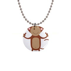 Female Monkey With Flower Button Necklaces by ilovecotton