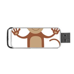 Female Monkey With Flower Portable Usb Flash (two Sides) by ilovecotton