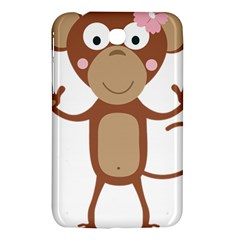 Female monkey with flower Samsung Galaxy Tab 3 (7 ) P3200 Hardshell Case  by ilovecotton