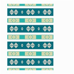 Rhombus And Stripes Small Garden Flag by LalyLauraFLM