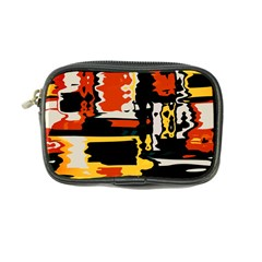 Distorted Shapes In Retro Colors coin Purse by LalyLauraFLM