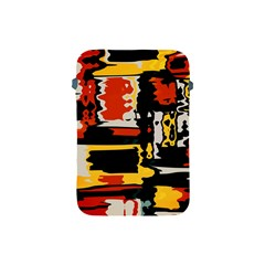 Distorted Shapes In Retro Colors 			apple Ipad Mini Protective Soft Case by LalyLauraFLM