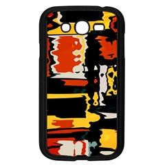 Distorted shapes in retro colors 			Samsung Galaxy Grand DUOS I9082 Case (Black) by LalyLauraFLM