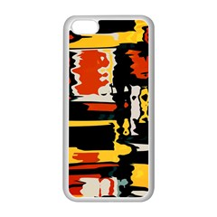 Distorted Shapes In Retro Colors 			apple Iphone 5c Seamless Case (white) by LalyLauraFLM