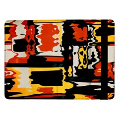 Distorted shapes in retro colors Samsung Galaxy Tab Pro 12.2  Flip Case by LalyLauraFLM