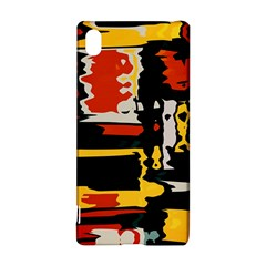 Distorted Shapes In Retro Colors 			sony Xperia Z3+ Hardshell Case