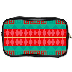Rhombus Stripes And Other Shapes Toiletries Bag (two Sides) by LalyLauraFLM
