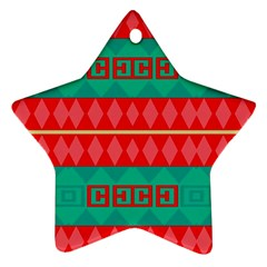 Rhombus Stripes And Other Shapes 			ornament (star) by LalyLauraFLM