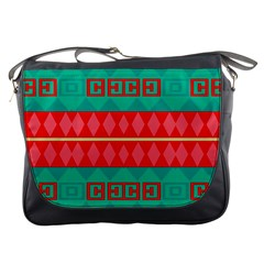 Rhombus Stripes And Other Shapes 			messenger Bag by LalyLauraFLM
