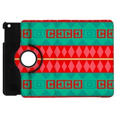 Rhombus Stripes And Other Shapes apple Ipad Mini Flip 360 Case by LalyLauraFLM