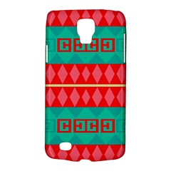 Rhombus Stripes And Other Shapes 			samsung Galaxy S4 Active (i9295) Hardshell Case by LalyLauraFLM