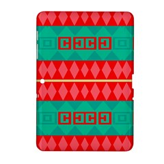 Rhombus Stripes And Other Shapes samsung Galaxy Tab 2 (10 1 ) P5100 Hardshell Case by LalyLauraFLM