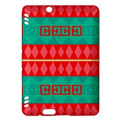 Rhombus Stripes And Other Shapes 			kindle Fire Hdx Hardshell Case by LalyLauraFLM