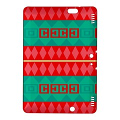 Rhombus Stripes And Other Shapes kindle Fire Hdx 8 9  Hardshell Case by LalyLauraFLM