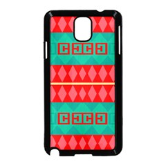 Rhombus Stripes And Other Shapes samsung Galaxy Note 3 Neo Hardshell Case (black) by LalyLauraFLM