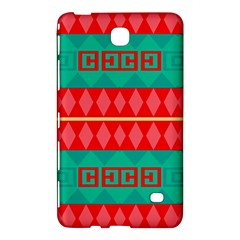 Rhombus Stripes And Other Shapes samsung Galaxy Tab 4 (7 ) Hardshell Case by LalyLauraFLM