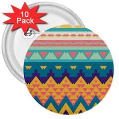 Pastel Tribal Design 			3  Button (10 Pack) by LalyLauraFLM