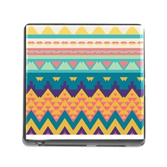 Pastel Tribal Design 			memory Card Reader (square) by LalyLauraFLM