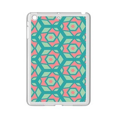 Pink Honeycombs Flowers Pattern  			apple Ipad Mini 2 Case (white) by LalyLauraFLM