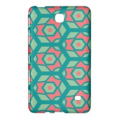 Pink Honeycombs Flowers Pattern  			samsung Galaxy Tab 4 (7 ) Hardshell Case by LalyLauraFLM