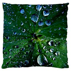 Morning Dew Large Flano Cushion Cases (two Sides)  by Costasonlineshop